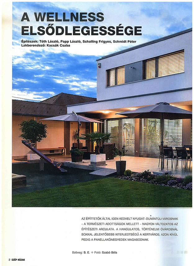 Szép házak 2017/1 A wellness elsődlegessége